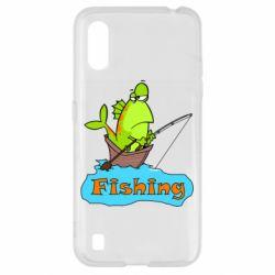 Чехол для Samsung A01/M01 Fish Fishing