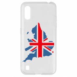 Чехол для Samsung A01/M01 Флаг Англии