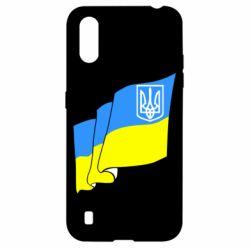 Чохол для Samsung A01/M01 Прапор з Гербом України