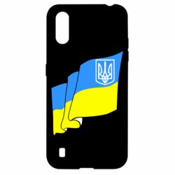 Чехол для Samsung A01/M01 Флаг Украины с Гербом