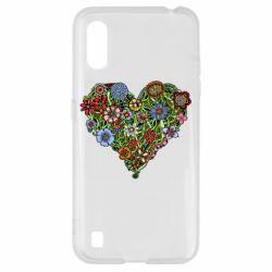 Чохол для Samsung A01/M01 Flower heart