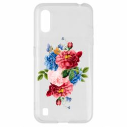 Чохол для Samsung A01/M01 Flowers and butterfly