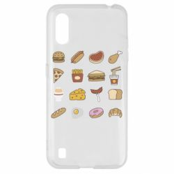 Чехол для Samsung A01/M01 Food