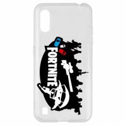 Чохол для Samsung A01/M01 Fortnite logo and heroes
