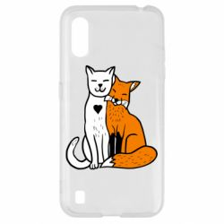 Чохол для Samsung A01/M01 Fox and cat heart