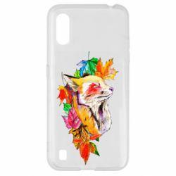 Чехол для Samsung A01/M01 Fox in autumn leaves
