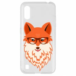 Чехол для Samsung A01/M01 Fox with a mole in the form of a heart