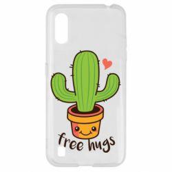 Чехол для Samsung A01/M01 Free Hugs Cactus