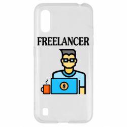 Чехол для Samsung A01/M01 Freelancer text