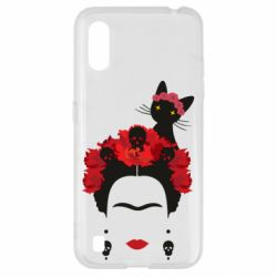 Чохол для Samsung A01/M01 Frida Kalo and cat