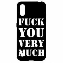 Чехол для Samsung A01/M01 Fuck you very much