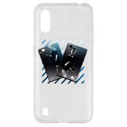 Чехол для Samsung A01/M01 Gambling Cards The Witcher and Cyrilla