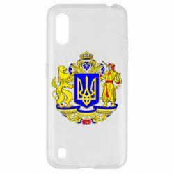 Чехол для Samsung A01/M01 Герб Украины полноцветный