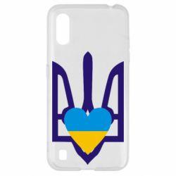 Чохол для Samsung A01/M01 Герб з серцем
