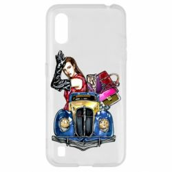 Чехол для Samsung A01/M01 Girl with a retro car