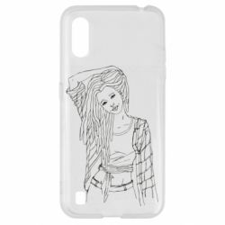 Чехол для Samsung A01/M01 Girl with dreadlocks