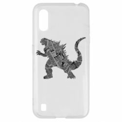 Чохол для Samsung A01/M01 Godzilla from the newspapers