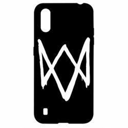 Чехол для Samsung A01/M01 Graffiti Watch Dogs logo