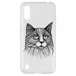 Чохол для Samsung A01/M01 Graphic cat