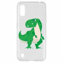 Чохол для Samsung A01/M01 Green little dinosaur