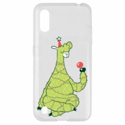 Чехол для Samsung A01/M01 Green llama with a garland