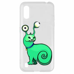 Чехол для Samsung A01/M01 Green monster snail