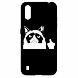 Чохол для Samsung A01/M01 Grumpy cat F**k Off