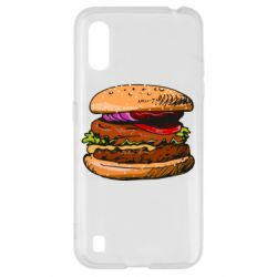 Чехол для Samsung A01/M01 Hamburger hand drawn vector