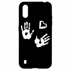 Чехол для Samsung A01/M01 Hands and heart