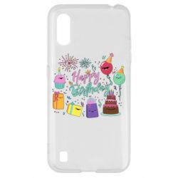 Чохол для Samsung A01/M01 Happy Birthday
