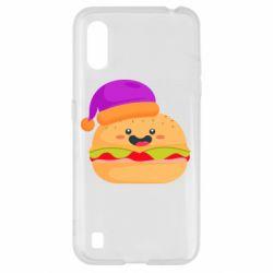 Чехол для Samsung A01/M01 Happy hamburger