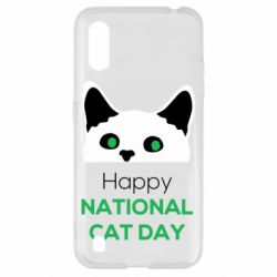 Чехол для Samsung A01/M01 Happy National Cat Day