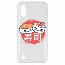 Чехол для Samsung A01/M01 Happy sushi