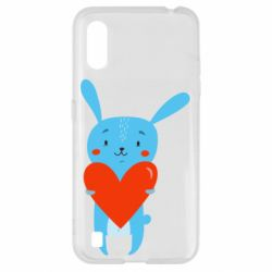Чохол для Samsung A01/M01 Hare with a heart