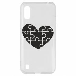 Чехол для Samsung A01/M01 Heart and puzzle
