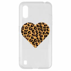Чехол для Samsung A01/M01 Heart with leopard hair