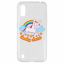 Чехол для Samsung A01/M01 Heavy metal unicorn