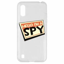 Чохол для Samsung A01/M01 Hello i'm a spy