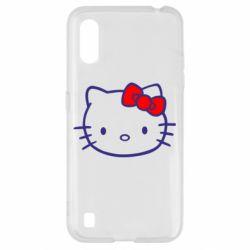 Чехол для Samsung A01/M01 Hello Kitty logo