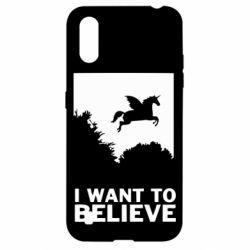 Чохол для Samsung A01/M01 Хочу вірити в єдинорогів