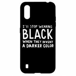 Чохол для Samsung A01/M01 i'll stop wearing black when they invent a darker color
