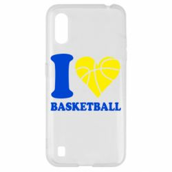 Чехол для Samsung A01/M01 I love basketball