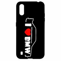 Чехол для Samsung A01/M01 I love BMW