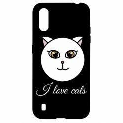 Чохол для Samsung A01/M01 I love cats art