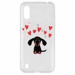 Чохол для Samsung A01/M01 I love dachshund