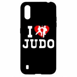 Чехол для Samsung A01/M01 I love Judo