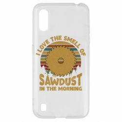 Чехол для Samsung A01/M01 I Love the smell of sawdust in the morning
