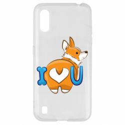 Чехол для Samsung A01/M01 I love you corgi