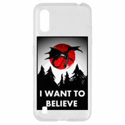 Чехол для Samsung A01/M01 I want to BELIEVE poster