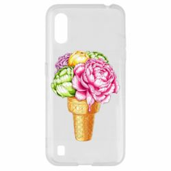 Чохол для Samsung A01/M01 Ice cream flowers